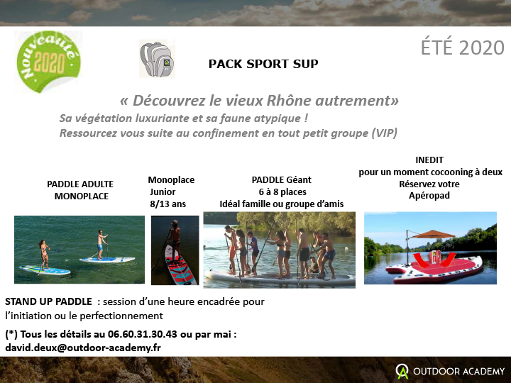 PACK SPORT été 2020 sessions SUP vrhfconc
